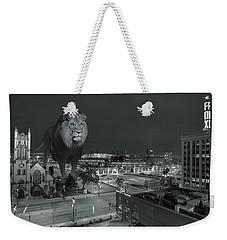 Detroit Lions Weekender Tote Bag by Nicholas  Grunas