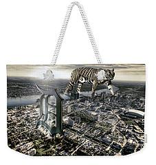 Detroit Weekender Tote Bag by Nicholas  Grunas