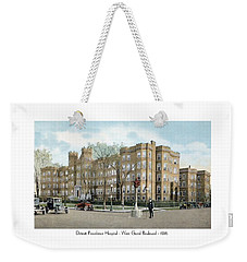 Detroit - Providence Hospital - West Grand Boulevard - 1926 Weekender Tote Bag