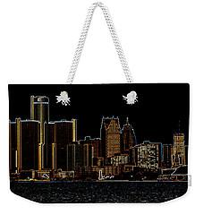 Detroit Skyline Weekender Tote Bag