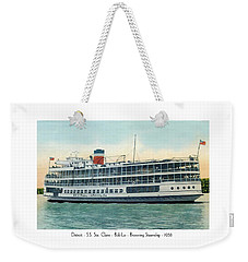 Detroit - Ss Sainte Claire - Boblo - Browning Steamship - 1938 Weekender Tote Bag