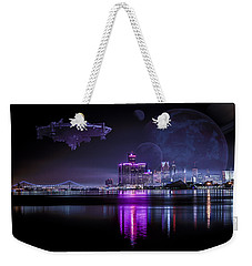 Weekender Tote Bag featuring the photograph Detroit Worlds by Nicholas  Grunas