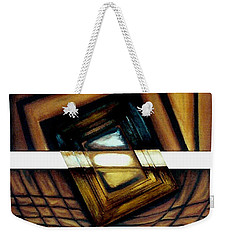 Weekender Tote Bag featuring the painting Deversity View by Fei A