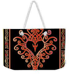Weekender Tote Bag featuring the digital art Devil's Heart by Vagabond Folk Art - Virginia Vivier