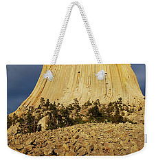 Weekender Tote Bag featuring the photograph Devils Tower National Monument Wyoming Usa by Shawn O'Brien