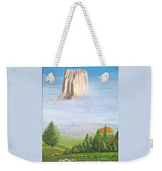 Weekender Tote Bag featuring the painting Devil's Tower  by Phyllis Kaltenbach