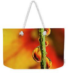 Dew Droplet Fractals Weekender Tote Bag by Arthur Fix