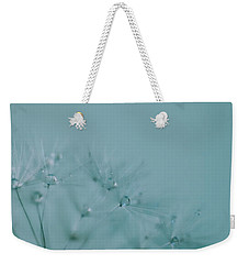 Dew Drops On Dandelion Seeds Weekender Tote Bag