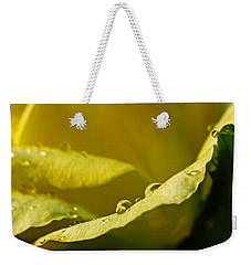 Dew Drops On Yellow Weekender Tote Bag
