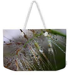 Dew On Fountain Grass Weekender Tote Bag by Joe Schofield