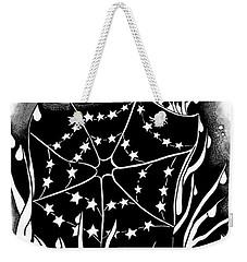 Weekender Tote Bag featuring the digital art Dewdrop Stars by Carol Jacobs