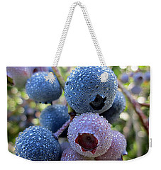 Dewy Blueberries Weekender Tote Bag