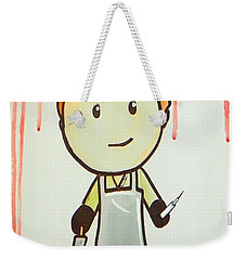 Weekender Tote Bag featuring the painting Dexter by Marisela Mungia