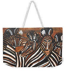 Zebra Bar Crowd Weekender Tote Bag