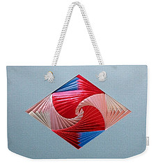 Weekender Tote Bag featuring the mixed media Diamond Design by Ron Davidson