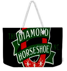 Weekender Tote Bag featuring the digital art Diamond Horseshoe by Cathy Anderson