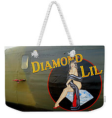 Diamond Lil B-24 Bomber Weekender Tote Bag by Amy McDaniel