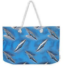 Weekender Tote Bag featuring the photograph Diamond Plate Sky by Kristen Fox