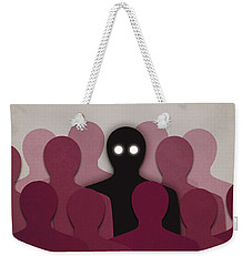 Different And Alone In Crowd Weekender Tote Bag
