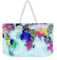 Digital Art Map Of The World Weekender Tote Bag