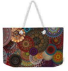 Digital Flowers 001 Weekender Tote Bag by Stuart Turnbull