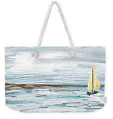 Digital Seascape In Blue Weekender Tote Bag