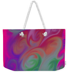 Digital Swirls Weekender Tote Bag by M West