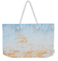 Dilapidated Beige And Blue Wall Texture Weekender Tote Bag