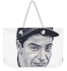 Weekender Tote Bag featuring the painting Dimaggio by Tamir Barkan