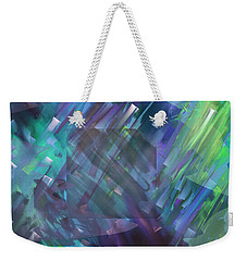 Weekender Tote Bag featuring the digital art Dimensional Chill by Kristen Fox