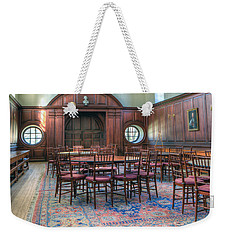 Weekender Tote Bag featuring the photograph Dining Hall Wren Building by Jerry Gammon