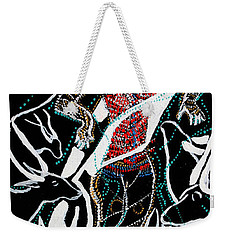 Weekender Tote Bag featuring the painting Dinka Dance by Gloria Ssali