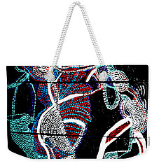 Weekender Tote Bag featuring the painting Dinka by Gloria Ssali