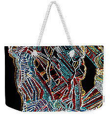 Weekender Tote Bag featuring the painting Dinka Warrior by Gloria Ssali