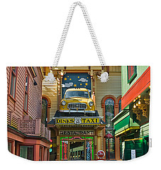 Dinks Taxi In Bar Harbor Weekender Tote Bag
