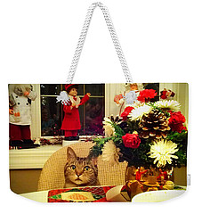 Dinner Time Weekender Tote Bag by Catie Canetti