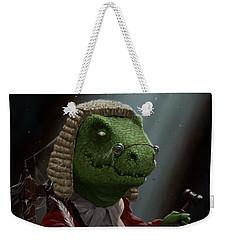 Dinosaur Judge In Uk Court Of Law Weekender Tote Bag