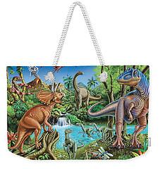 Dinosaur Waterfall Weekender Tote Bag by Mark Gregory