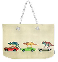 Dinosaurs Ride Cars Weekender Tote Bag