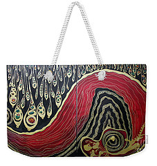 Dipped In Gold Diptich Weekender Tote Bag by Jolanta Anna Karolska