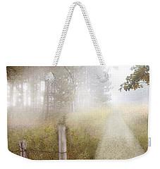 Dirt Road In Fog Weekender Tote Bag by Jill Battaglia