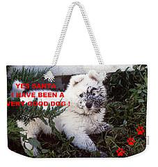Dirty Dog Christmas Card Weekender Tote Bag