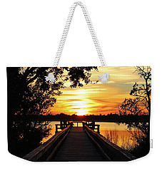 Disappearing Sun  Weekender Tote Bag by Cynthia Guinn