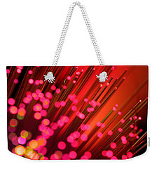 Weekender Tote Bag featuring the photograph Disco Inferno by Dazzle Zazz