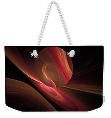 Disk Swirls Weekender Tote Bag by GJ Blackman