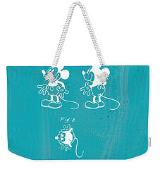 Disney Mickey Mouse Weekender Tote Bag by Marlene Watson