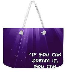 Disney's Dream It Weekender Tote Bag