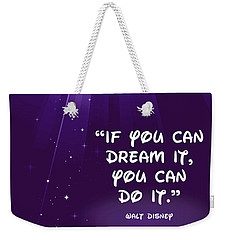 Disney's Dream It Weekender Tote Bag