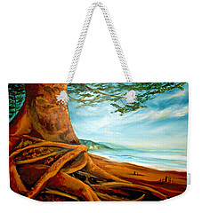 Weekender Tote Bag featuring the painting Distant Shores Rejoice by Meaghan Troup