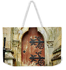 Distressed Door Weekender Tote Bag by Valerie Reeves